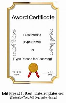 Award Templates Free Printable Certificate Templates Customize Online