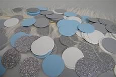 confetti light blue silver white grey party decoration