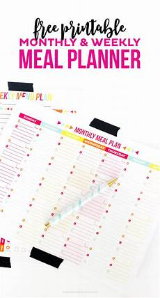 Meal Planning Template Free 30 Family Meal Planning Templates Weekly Monthly Budget