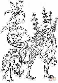 herrerasaurus dinosaur coloring page free printable