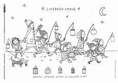Ausmalbilder Herbst Laterne Sankt Martin Laternenumzug Laternenumzug Kinder Laterne