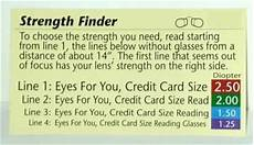 Readers Strength Chart Reading Glasses Wallet Size Magnifiers Magnifying