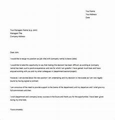 Resignation Letter In Word Simple Resignation Letter Template 15 Free Word Excel