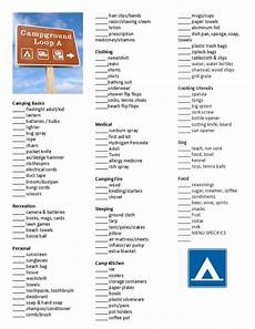 List For Camping Camping Ideas Home Helping