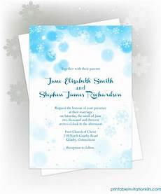 Winter Wedding Invitation Templates Snowflakes Winter Invitation For Winter Weddings And