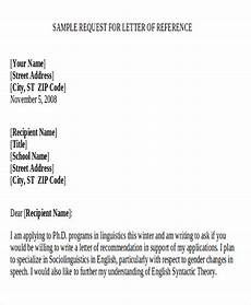 Request A Recommendation Letter 9 Sample Recommendation Request Letter Free Sample