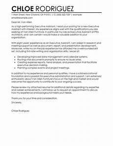 Executive Administrative Assistant Cover Letter Sample Best Executive Assistant Cover Letter Examples Livecareer