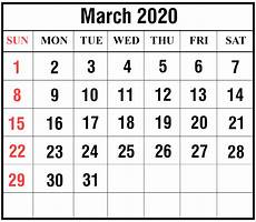 March 2020 Calendar Printable Download Free March 2020 Printable Calendar In Pdf Excel