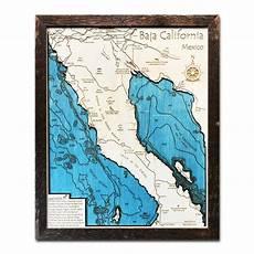 Baja Charts The California Wood Map Collection 3d Nautical Wood Charts