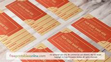 Numbered Event Tickets Orange Numbered Event Ticket Template Free Printables Online