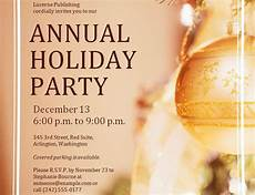 Annual Holiday Party Invitation Template Corporate Holiday Party Invitations Template