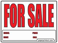 For Sale Sign Pdf Sale Sign Car Window Printable Clip Art Library