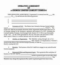 Example Llc Operating Agreement 9 Business Operating Agreement Examples Pdf Examples