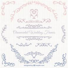 cornici eleganti eleganti cornici di nozze scaricare vettori gratis