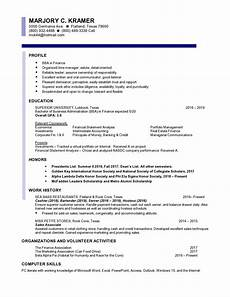 Entry Level Cpa Resumes Finance Entry Level Resume Samples Templates Vault Com