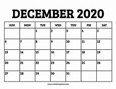 Free December 2020 Calendar Printable December 2020 Calendar Template Download Now