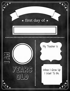 First Day Of Preschool Template 1st Day Of School Chalkboard Sign Early Learning Center