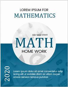 Maths Cover Page Design 5 Best Editable Mathematics Assignment Cover Pages Ms