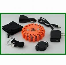 Oversize Strobe Lights Road Flare Rechargeable Magnetic 16 Amber Led The