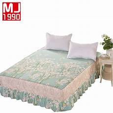 lace fitted bed skirt 100 cotton pastoral style pattern