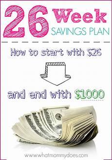 26 Week Savings Plan Chart 26 Week Savings Plan Printables Start With 26 End With