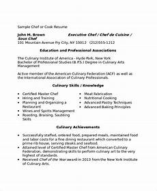 Example Of Cook Resume Sample Chef Resume 9 Examples In Word Pdf