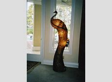 FOR SALE: Peacock Shaped Floor Standing Lamp   Floor standing lamps, Floor lamp makeover, Diy