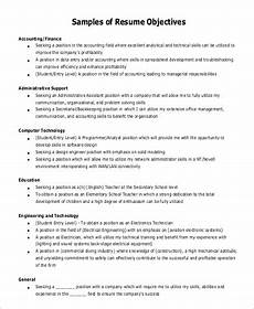 Management Objectives For Resume Free 7 Sample General Objective For Resume Templates In Pdf