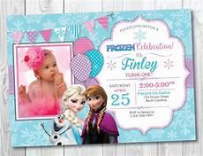 Frozen Birthday Invitations Printable Frozen Birthday Invitation Printable With Photo Frozen