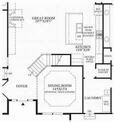 Floor Plan Stairs Virginia Luxury New Homes For Sale By Toll Brothers