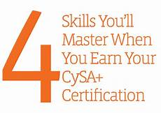 comptia continuing education program activity chart infographic 4 skills mastered with comptia cysa