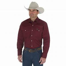 wrangler mens sleeve snap western shirt