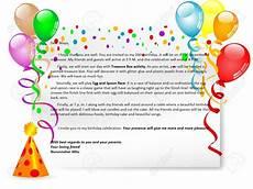 Birthday Invitation Letter Birthday Party Invitation Letter English For Life