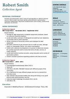 Collection Resume Examples Collection Agent Resume Samples Qwikresume
