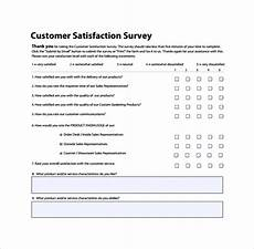 Customer Service Survey Questions Template Free 9 Sample Customer Survey Templates In Google Docs