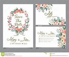 wedding invitation card template wedding invitation card template stock vector