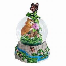 kittens and butterfly 100mm resin 3d musical water