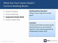 What Is A Good Career Goal Five Questions You Must Answer In Your Mba Application