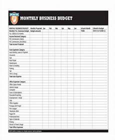 Monthly Business Budget 26 Budget Templates In Pdf Free Amp Premium Templates