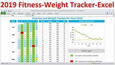 Training Tracker Excel Template Fitness Tracker And Weight Loss Tracker For 2019 Workout