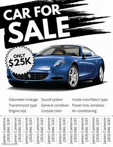 Car Sale Flyer Copy Of Car For Sale Flyer Postermywall