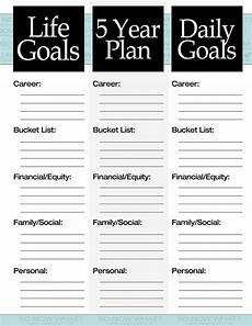 life planner template the 3 steps to a 5 year plan personal growth