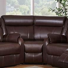global furniture u9303c sec modern brown leather gel
