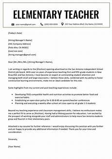 Cover Letter Teacher Template Elementary Teacher Cover Letter Example Amp Writing Tips