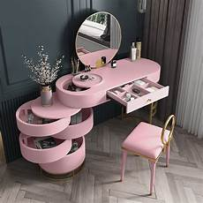white blue pink makeup vanity dressing table with swivel