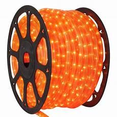Orange Chasing Lights Rope Light 150 Fluorescent Orange Chasing Rope Light