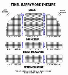 Barrymore Theater Seating Chart Ethel Barrymore Theatre Playbill
