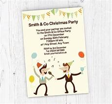 Office Christmas Party Invites Office Christmas Party Invitations Customise Online Plus