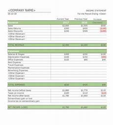 Income Expense Statement Template 41 Free Income Statement Templates Amp Examples Templatelab