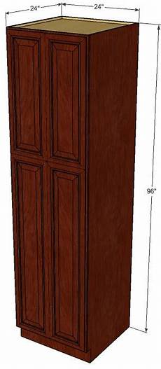 brandywine maple pantry cabinet unit 24 inch wide x 96
